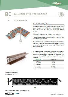 scheda tecnica elemento ventilazione