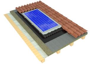 Membrane impermeabili e traspiranti con pannelli solari/fotovoltaici integrati