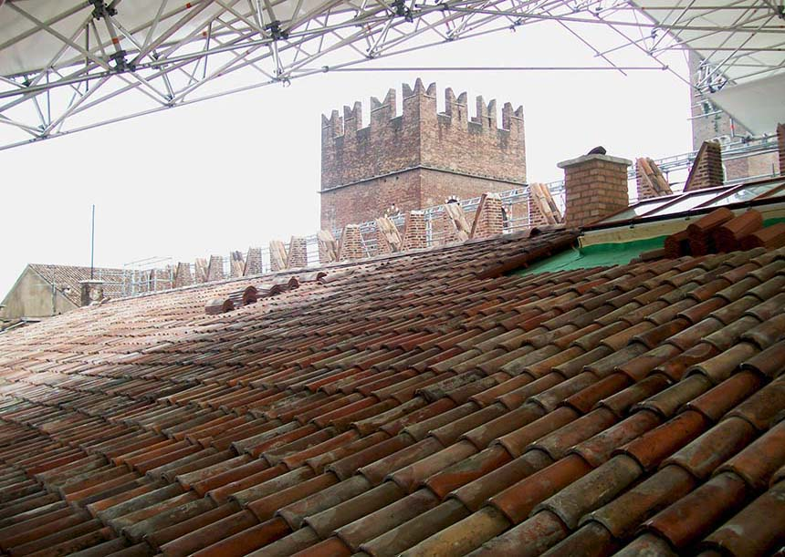 Sistema AERcoppo® per il Palazzo Scaligero, Sede della Provincia e della Prefettura di Verona (VR), 2011-2014