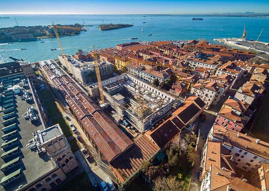 Sistema AERcoppo® per lo Studentato Santa Marta a Venezia 2018
