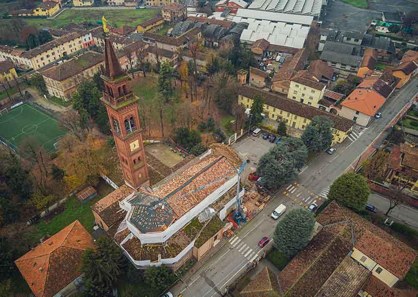 Sistema AERcoppo® per la Chiesa di San Bernardino a Crema 2019